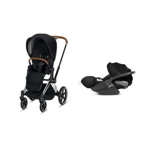 Cybex - BU207 - Poussette Priam 2019 et Cloud Z i-size  Alu-marron Premium Black (398144)