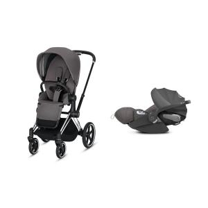 Cybex - BU209 - Poussette Priam 2019 et Cloud Z i-size  Alu-noir Manhattan Grey (398148)