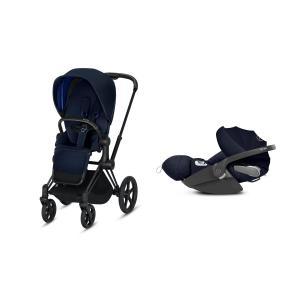 Cybex - BU214 - Poussette Priam 2019 et Cloud Z i-size  Noir Indigo blue (398158)