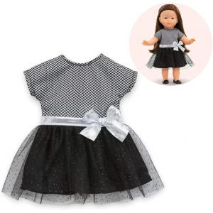 Corolle - 210990 - Ma Corolle robe de soirée - noir et gris - taille 36 cm - âge : 4+ (398838)