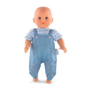 Corolle - 110070 - Bébé t- shirt rayé et salopette - taille 30 cm - âge : 18 mois (398946)