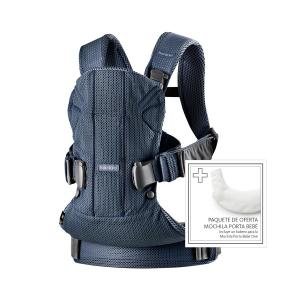 Babybjorn - 698008 - Baby Carrier One Air Navy Blue 3D Mesh with Teething Bib for BC One (399140)