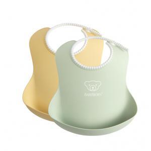 Babybjorn - 046342 - Bavoir, lot de 2, Jaune pastel/Vert pastel (399156)