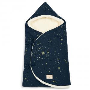 Nobodinoz - N110226 - Nid d'ange d'hiver Cozy 0-3 m Gold Stella/Night Blue (399228)