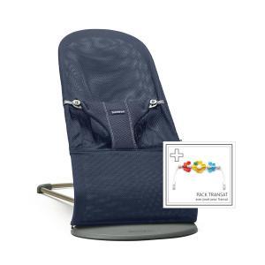 Babybjorn - 606003 - Pack Transat Bliss (Bleu marine, Mesh 3D) + Jouet Amis volants (399388)