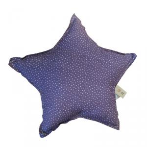 Numéro 74 - 74000002 - Coussin Etoile imprimé violet little star 30cm (399398)