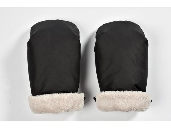 Moufle poussette noir