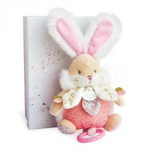 Doudou et compagnie - DC3492 - Lapin de sucre rose - boîte à musique - taille 20 cm (399742)