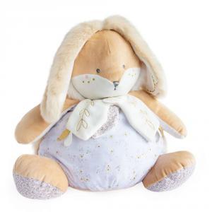 Doudou et compagnie - DC3494 - Lapin de sucre blanc - range pyjama  - taille 38 cm (399750)