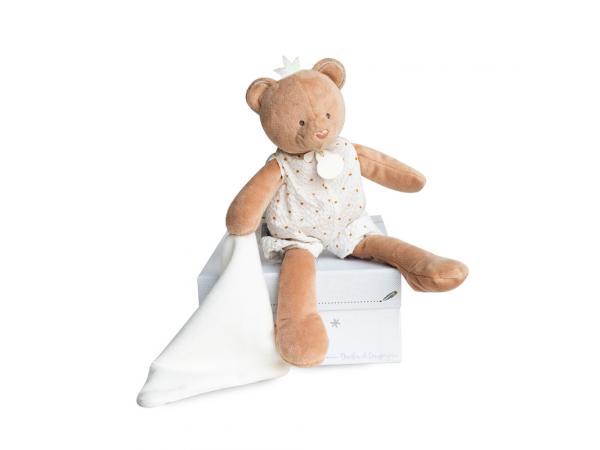 Attrape-reve - ours pantin avec doudou - taille 28 cm