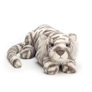 Jellycat - SAC1T - Peluche Tigre  des Neiges Animal Sauvage Sacha - 45 cm (399970)