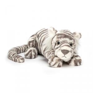 Jellycat - SAC4T - Peluche Tigre  des neiges Animal Sauvage Sacha Petit -27 cm (399972)