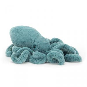 Jellycat - SOL2SQ - Peluche Calamar Animal Marin Sol Grand - 39 cm (400252)