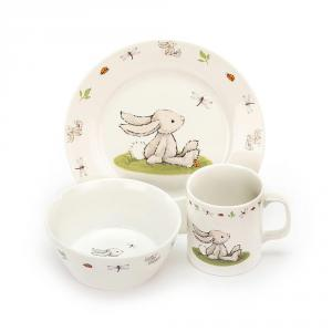 Jellycat - CS2BB - Bashful Bunny Bowl, Cup & Plate -20 cm (400530)