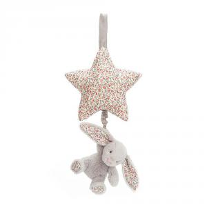 Jellycat - BAMS4BS - Pull Musicial Lapin argent Fleurir -28 cm (400608)