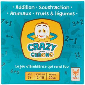Topi Games - CC1-MI-849001 - Crazy chrono animaux & fruits - Format Micro (11 x 11 x 4) (400910)