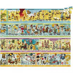 Vilac - 2737 - Grande frise historique puzzle 4 x 100 pcs - à partir de 6+ (401086)