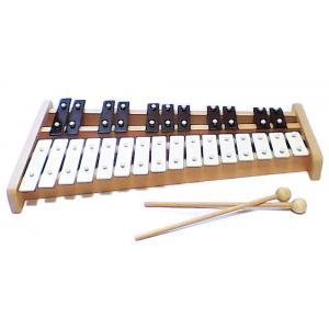 Bass et Bass - B38104 - Xylophone 24 Notes en forme de Piano - Lamelles en Métal - Son top Qualité - Fabriqué en Europe - Instrument de Mus (402338)