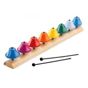 Bass et Bass - BG0201 - Clochettes Musicales en Métal 8 Notes - Son top Qualité - Instrument de Musique pour enfant (402346)