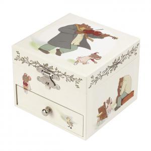 Trousselier - S20016 - Boite à Musique Cube Ernest & Celestine© (403434)