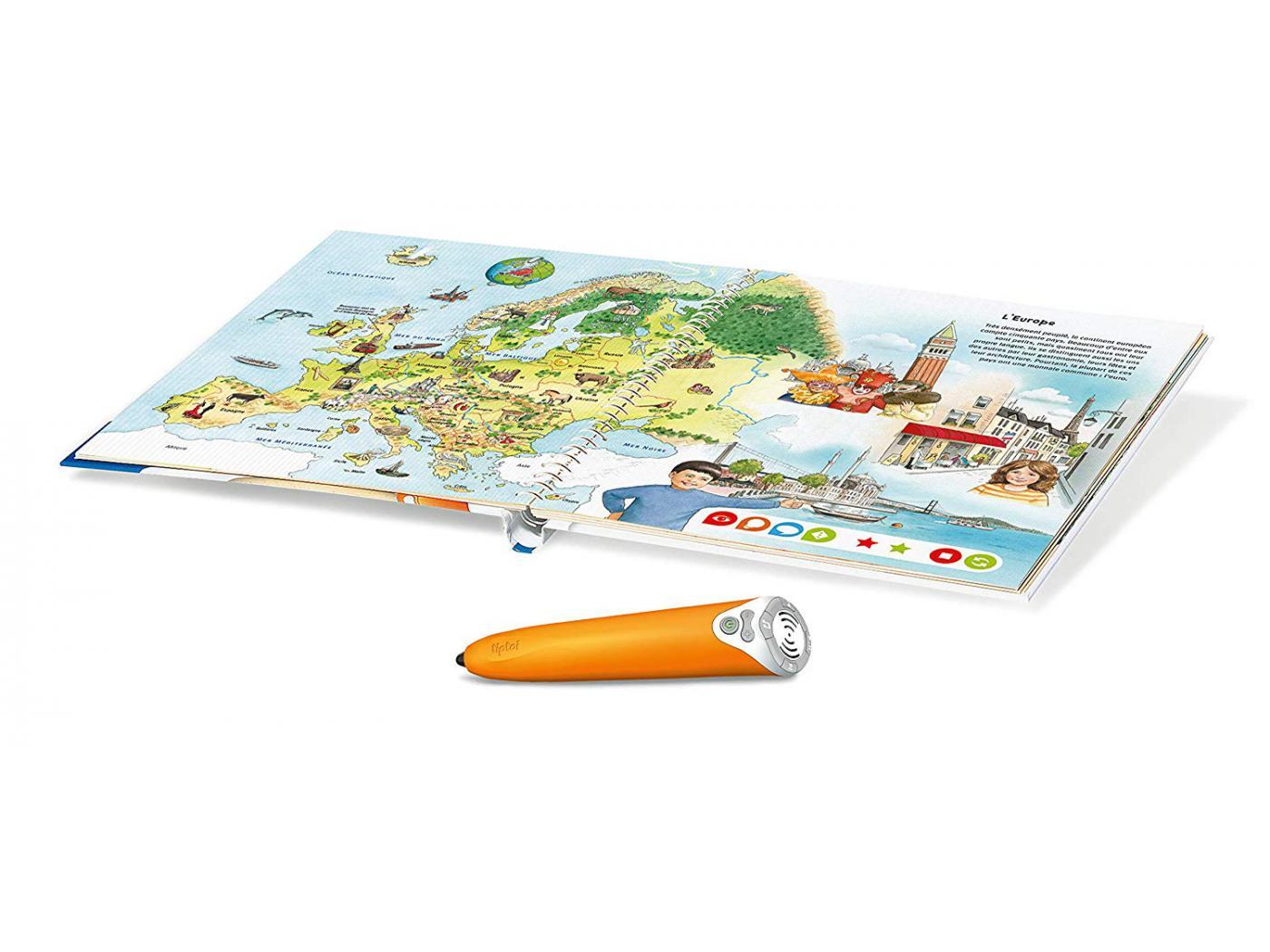 Ravensburger - Jeux éducatifs Tiptoi - Coffret complet lecteur interactif + Livre Atlas