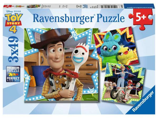 Puzzles 3x49 pièces - toy story 4