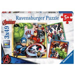 Avengers - 08040 - Puzzles 3x49 pièces - Les puissants Avengers (403830)