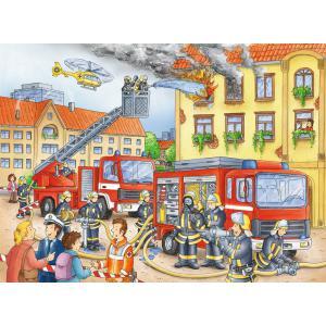 Ravensburger - 10822 - Puzzle 100 pièces XXL - Nos pompiers (403850)