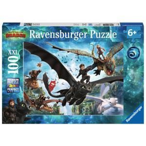 Ravensburger - 10955 - Puzzle 100 pièces XXL - Le monde caché / Dragons 3 (403858)