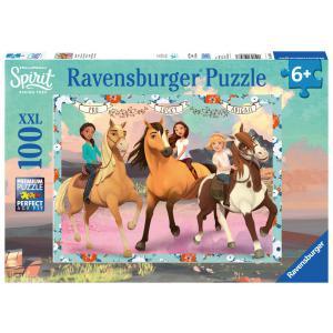 Ravensburger - 10748 - Puzzle 100 pièces XXL - Lucky et ses amies / Spirit (403860)