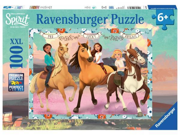 Puzzle 100 p xxl - lucky et ses amies / spirit