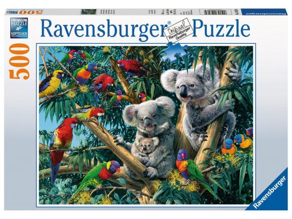 Puzzle 500 pièces - koalas dans l'arbre