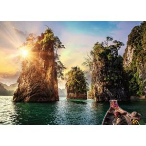 Ravensburger - 13968 - Puzzle 1000 pièces - Lac de Cheow Lan, Thaïlande (403924)