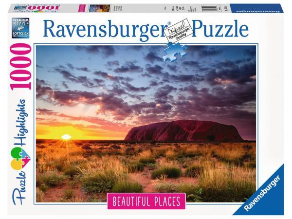 Puzzle 1000 pièces - ayers rock en australie (puzzle highlights)