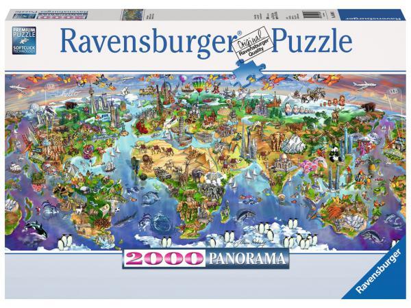 Puzzle 2000 pièces - merveilles du monde