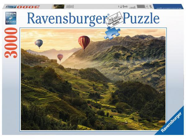 Puzzle 3000 pièces - terrasses de riz en asie