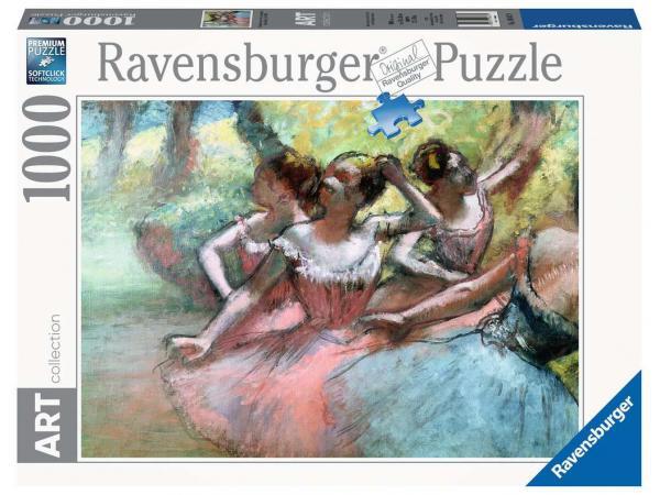 Puzzle 1000 pièces art collection - quatre ballerines sur la scène / edgar degas
