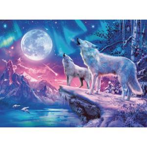 Ravensburger - 14952 - Puzzle 500 p Star Line - Loups sous les lumières du Nord (404014)