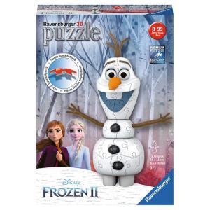 Disney - 11157 - Puzzle 3D forme 54 pièces - Olaf / Disney La Reine des Neiges 2 (404034)