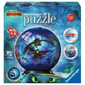 Ravensburger - 11144 - Puzzle 3D Ball 72 pièces - Dragons 3 (404044)