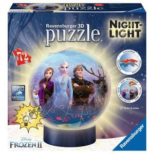 Ravensburger - 11141 - Puzzle 3D Ball 72 pièces illuminé - Disney La Reine des Neiges 2 (404046)