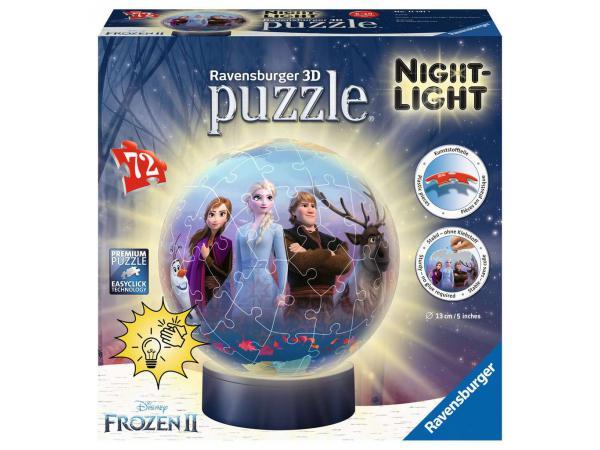 Puzzle 3d rond 72 p illuminé - disney la reine des neiges 2