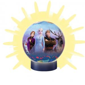 Ravensburger - 11141 - Puzzle 3D rond 72 p illuminé - Disney La Reine des Neiges 2 (404046)