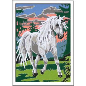 Ravensburger - 29664 - Numéro d'art - petit - Licorne en forêt (404102)
