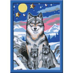 Ravensburger - 29667 - Numéro d'art - petit - Famille de loups (404106)