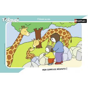 Nathan puzzles - 86131 - Puzzle cadre 15 pièces - T'choupi au zoo (404276)