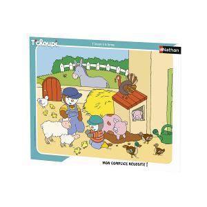 Nathan puzzles - 86134 - Puzzle cadre 35 pièces - T'choupi à la ferme (404282)