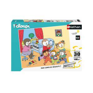 Nathan puzzles - 86368 - Puzzle 30 pièces - T'choupi fait de la musique (404290)