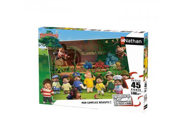 Puzzle 45 pièces - photo de famille / monchhichi