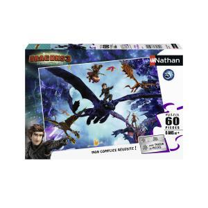 Nathan puzzles - 86631 - Puzzle 60 pièces - L'équipe des dragons / Dragons 3 (404302)